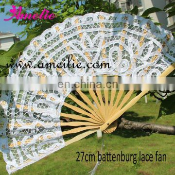 27cm White hinese belly dance fan