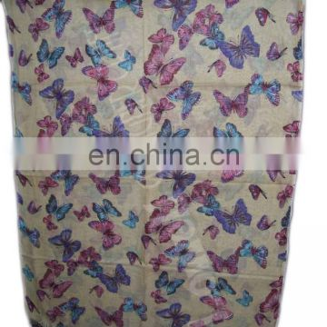 FLOWER DESIGN VISCOSE SCARF