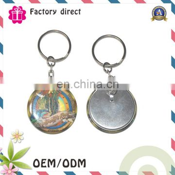 Attractive Metal Charms tinplate Key Chain for travelling Souvenirs