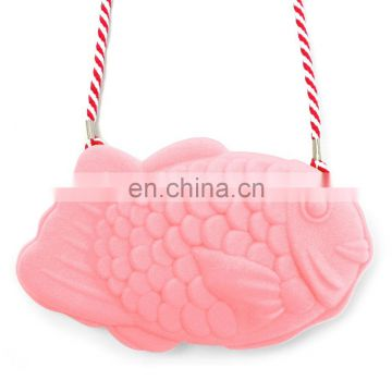 Popular and Creative Silicone Mini Crossbody Cosmetic Bag with Strap length125cm