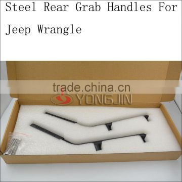 Solid grab bars for jeep wrangler black rear handle for SUV ATV
