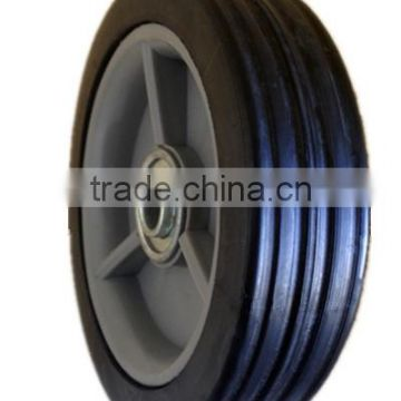 5 inch semi-pneumatic rubber wheels with bearing for small cart, garden trailer