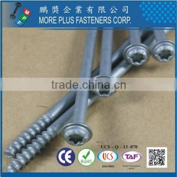 Made in Taiwan Carbon Steel Pan Washer Head Geomet 321 Silver Torx10 PT Screw