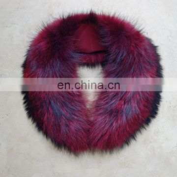 Genuine fur collar accessory luxury fur collar warmer for winter coat