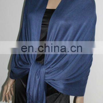 fashion scarf necklace with Solid Color 100% cotton Pashmina fashion solid color shawl