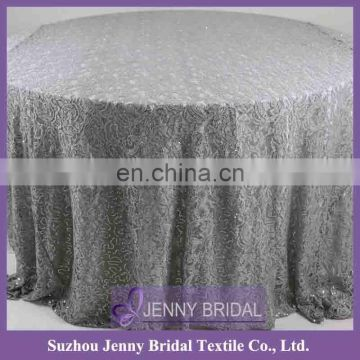 TR023B silver grey table cloth venice lace fabric centerpieces for wedding table