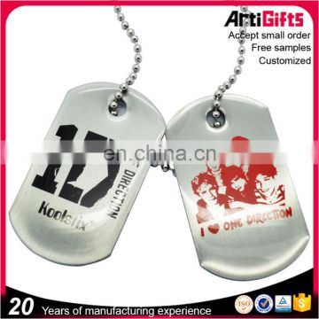 Custom Design Fashion stainless steel dog tag necklace
