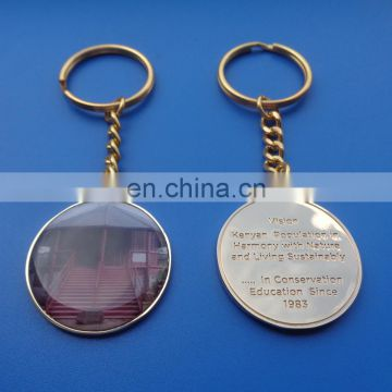 Kenya Education Souvenir Shinning Gold Metal Key Chain