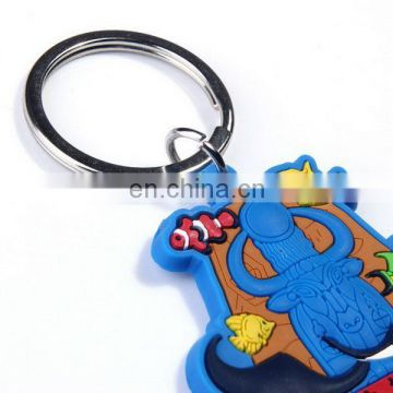 cute nice promotional car shape silicone keyring with logo keychains