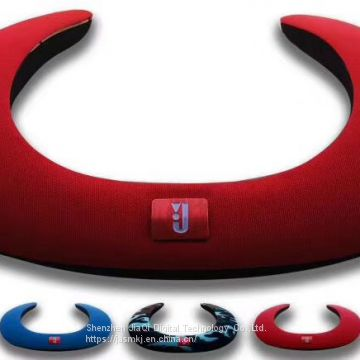 The u-shaped wireless bluetooth speaker with neck is popular in foreign trade
