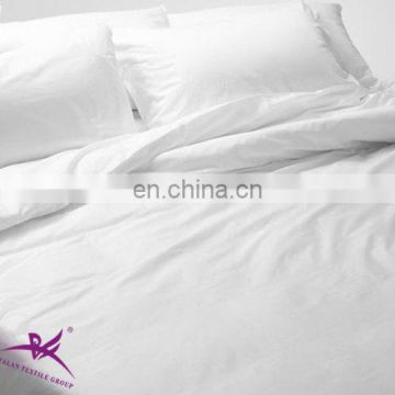 TC50/50 hotel white Percale bed sheet flat sheet factory/bed sheet