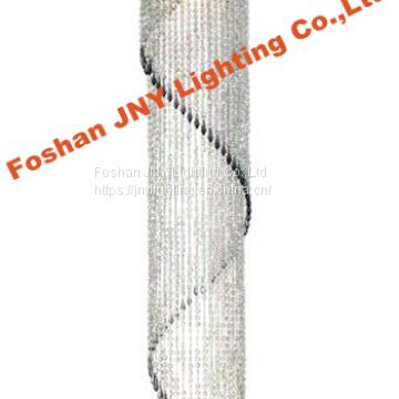 Foshan JNY Lighting JNY Lighting /Faux Crystal Sparkling Iridescent Beaded Spiral Chandelier Long