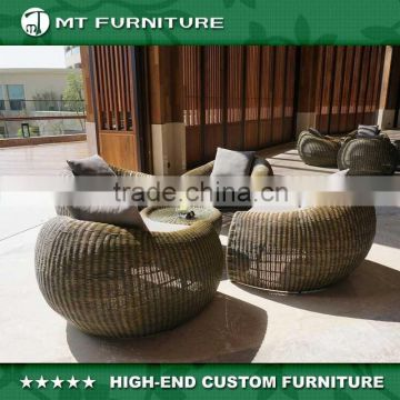 China Whole Modern New Design Wicker Rattan Round Outdoor Garden Furniture Ratan Sofa Set