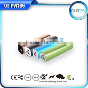Promotional 18650 battery portable 2600mah manual for mini power bank