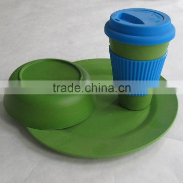 High standard Eco-friendly Affordable bamboo fiber tableware set