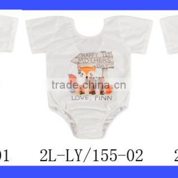3 Pack Infant And Toddler White Summer Jumpsuits Natural Organic Blank Baby Onesie