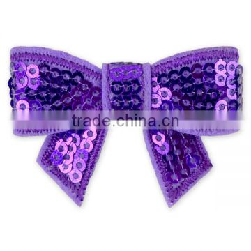 Boutique Girl Christmas Wholesale Green Mini Sequin Bows For Headbands