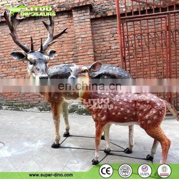 Amusement park products animatronic animals deer