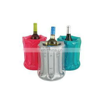 inflatable red wine bottle cooler for promotion