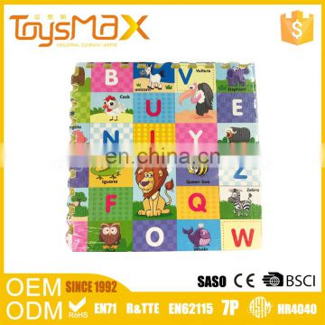 Cheaper EVA foam alphabet puzzle interlocking foam tiles for kids