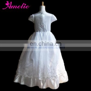 Children's Party Shower Christian Pattern Girl's Long Formal Communion Dress