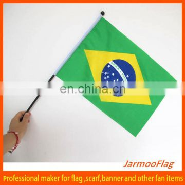 world cup polyester brazil hand flag