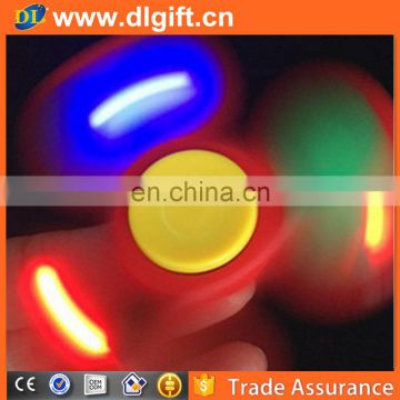 Canada hot sale toy custom led hand platic wind alloy spinner