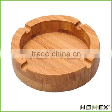Bamboo cigar ashtray w holder catcher Homex BSCI/Factory