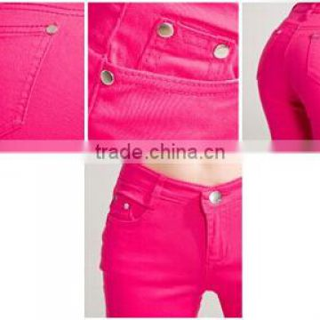 New Women's pants Sexy Spring elastic candy colored pencil Pants Jeans Trousers women's jeans