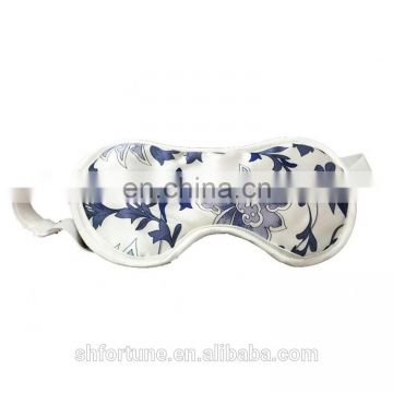 100% nature silk floss filling blue and white porcelain eye masks
