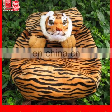 Wholesale china plush tiger backpack animal toy tiger head backpack