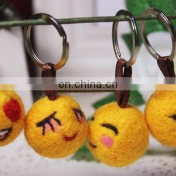 mini plush toy emoji keychain felt fabric backpack accessories