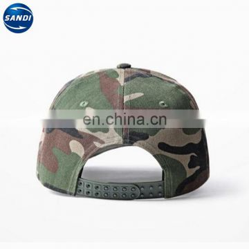Custom LOGO printed camouflage fabric men army cap