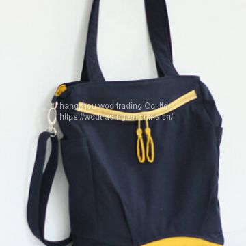 Navy blue diaper bag with long shoulder from China