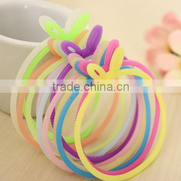 wholesale cheap price rabbit silicone bracelets of candy color