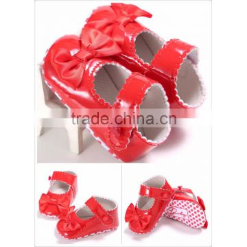 2017 beauty toddler infant dancing shoe bow flash princess costume kid shoe