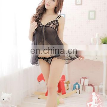 Chaozhou Wholesale Fashion Strapless New Ladies Little Girls Lace Sexy Black Transparent Sex Underwear