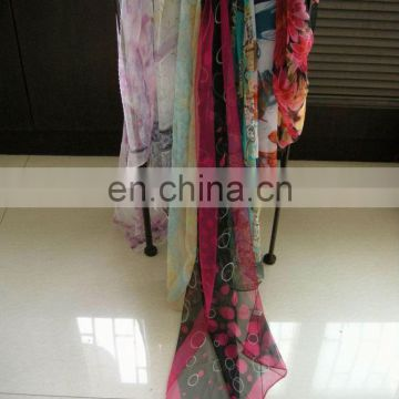 Different Kinds Of Fashion Pure White Habotai Scarfs Available