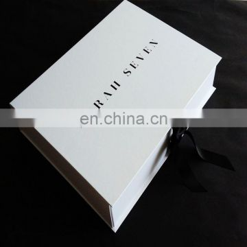 High quality packaging factory Larger white Foldable Paper Gift Box Custom Logo