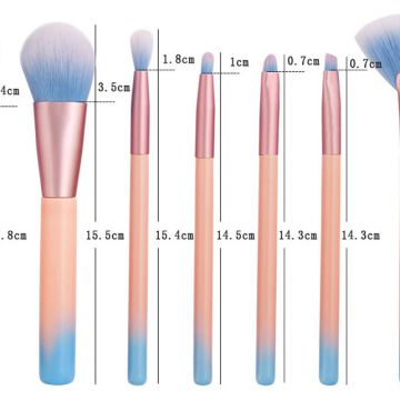 Professional 7Pcs Super Soft Makeup Brush Set Eye Shadows Make Up Brushes Kit Blending Brush Tool