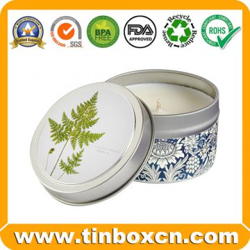 Seamless Round Candle Tin Box for Wax Packaging