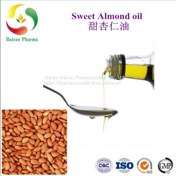 sweet almond oil for cosmetic 100% pure factory wholesale massage Spa carrier oil