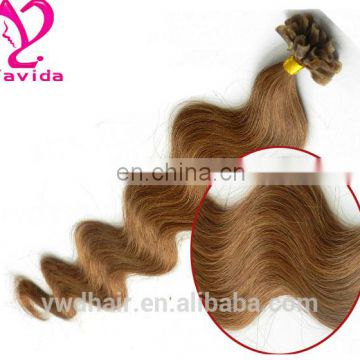 russian human hair extension double drawn i tip high quality wholesale