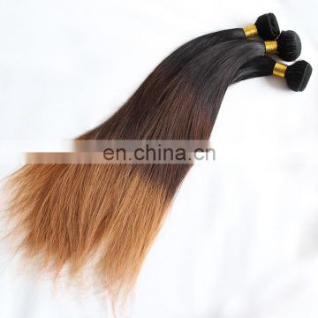 6A brazilian hair weft three tone ombre hair extensions T1b/4/30