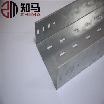 Various sizes ventilated or perforated zinc plated cable tray