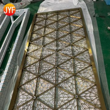 JYFQ0089 Decorative Partition Room Screens Direct Design Modern House Metal Partition Standing Stainless Steel Screen