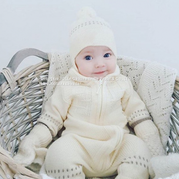 Wholesale Products Unisex Baby Winter Clothes Romper Baby Girl 3-24 Months Baby Siamese Jumpsuit with Cap