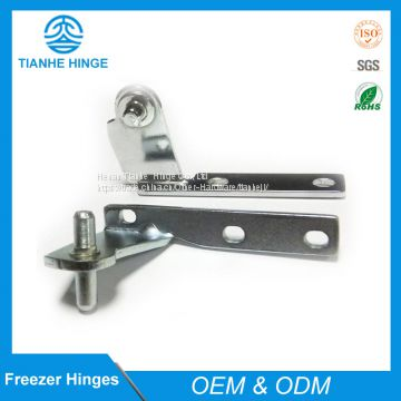 Middle hinge for refrigerator doors
