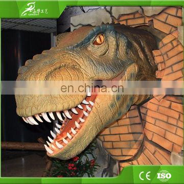 Wall decoration attractive custom robot realistic dinosaurs head
