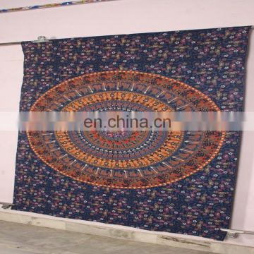 Indian Mandala Floral Tapestry Hippie Wall Hanging Bohemian Bedspread Throw Dorm Decor